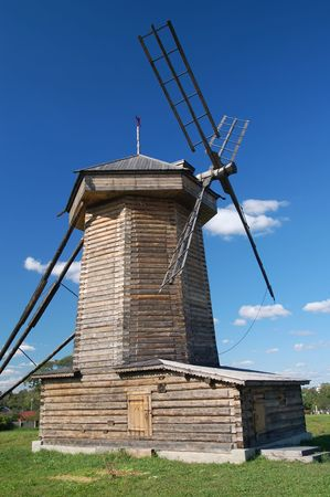 Windmill under blue sky in russia Stock Photo - 3917445