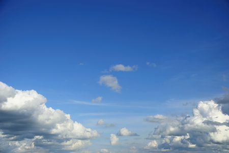 skylight: blue sky with white cloud on sunny day