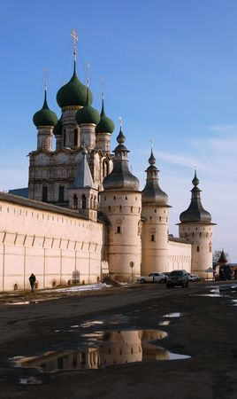 cupolas: Cupolas and crosses on the Russian church Stock Photo
