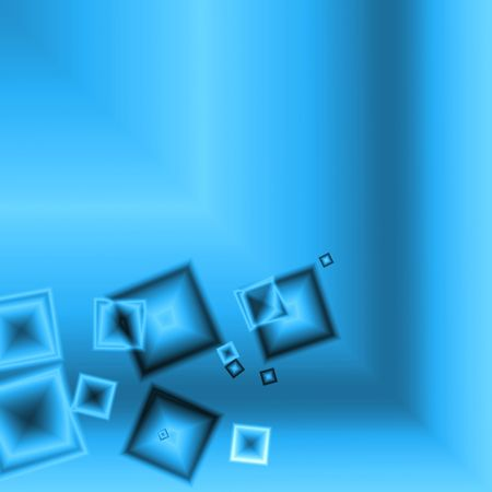 Blue glass squares cubic abstract background bar Stock Photo - 5386971