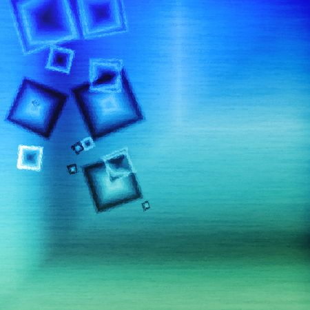 Blue glass squares cubic abstract background bar    photo