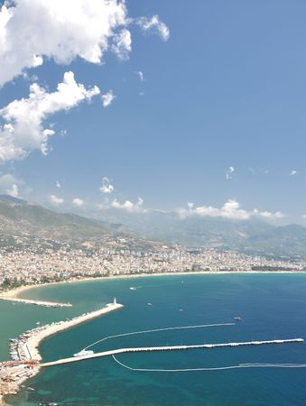 sity: View to Alanya sity from high mountain