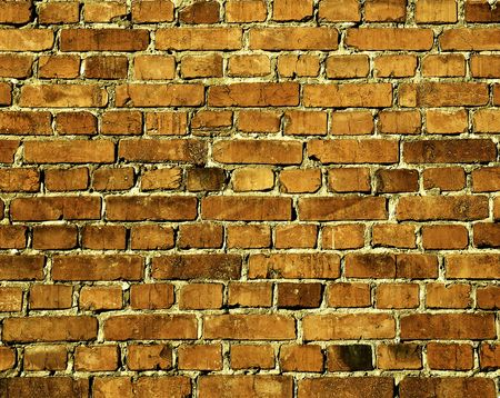 old weathered stained red brick wall background Stock Photo - 5711613
