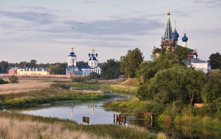 The Church upon Nerl River is one of the loveliest Orthodox churches and a symbol of mediaeval Russia photo