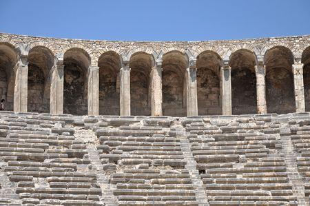 Colosseum das römische Amphitheater von Türkei Standard-Bild