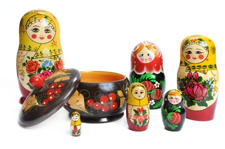 matroshka: matreshka doll isolated on white Matreshkas Flash Mob