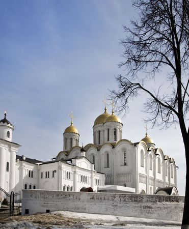 Assumption cathedral at Vladimir in winter Russia photo