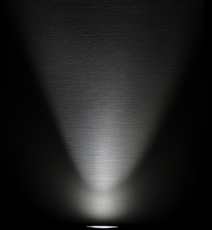 White Light Beam from Projector on Black Background Stock Photo - 9067666