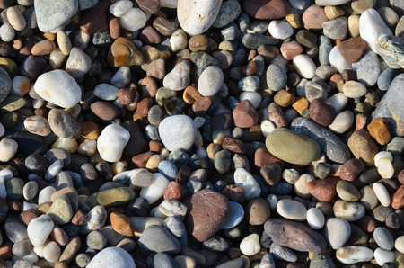 Detail of the various sea pebbles stones