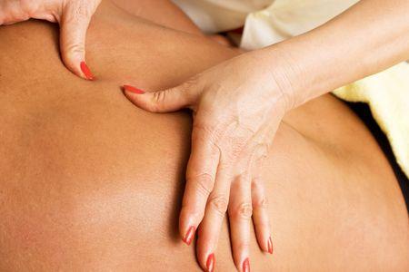 Body Massage Stock Photo