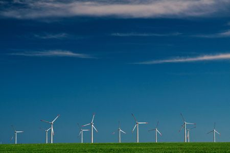Wind Power Generators Stock Photo - 4970354