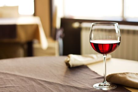 Red Wine on table Stock Photo - 4970357