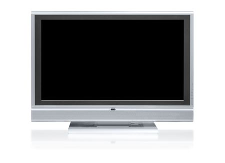 Flat television isolated from light photo