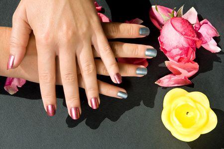 french pedicure: Manicure