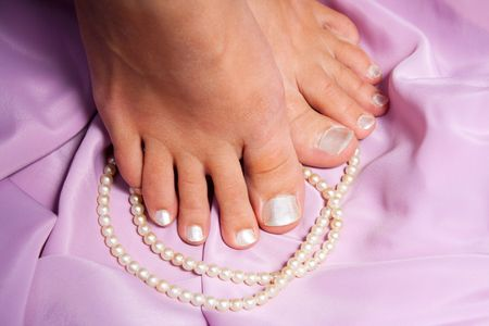 Pedicure with pearls photo