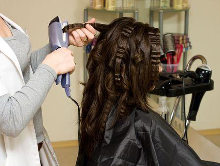 Haircut ophalen op de schoonheid salon