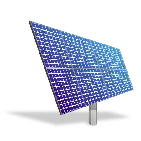 Solar panel for alternative energy isolated on white. Ecological power. photo