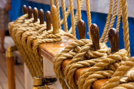 coiled rope: Ship rope