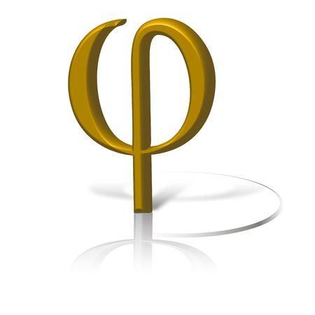 Golden symbol phi.