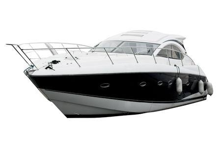 bateau: Yacht Isolated sur blanc