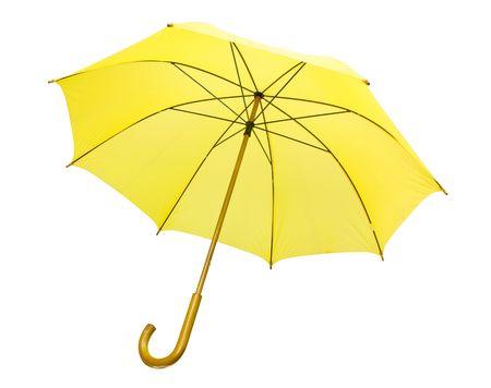 Yellow umbrella isolated