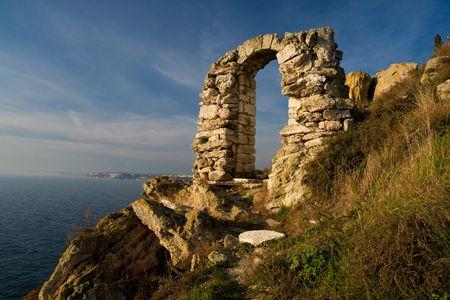 Kaliakra landmark in Bulgaria. Historical place interested for tourism. photo
