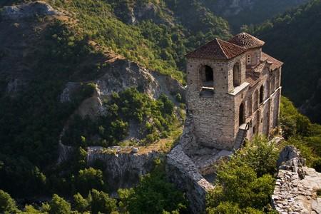 High mountain castle church in Asenovgrad, Bulgaria