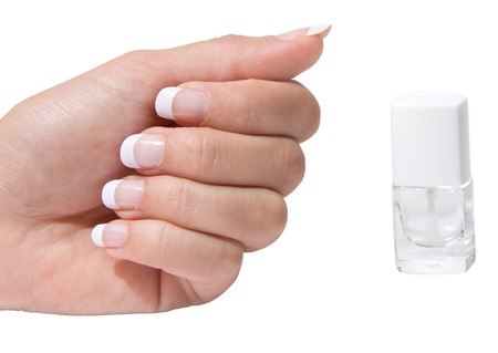 French manicure isolated with clipping path Stock Photo - 6971824