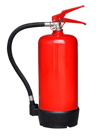 Fire-extinguisher isolated