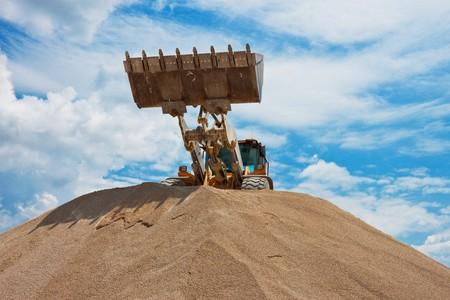 Yellow bulldozer at construction site Stock Photo - 7236855