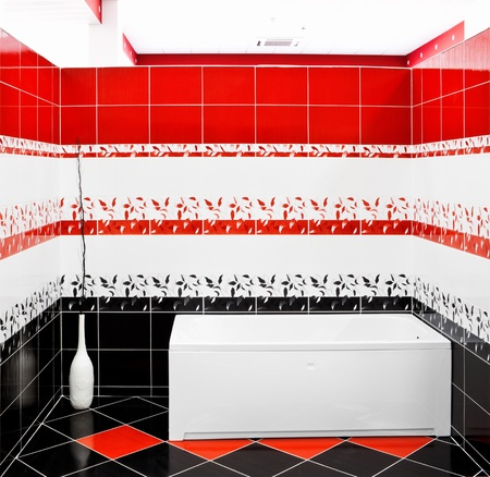 Modern tiled bathroom Stock Photo - 9757544