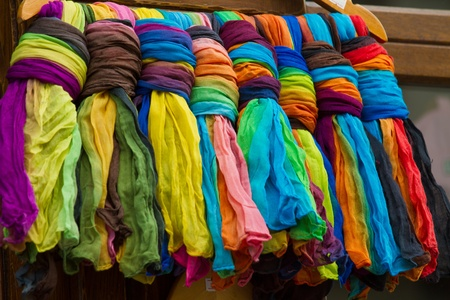 Colorful textile palette. The art of colors.
