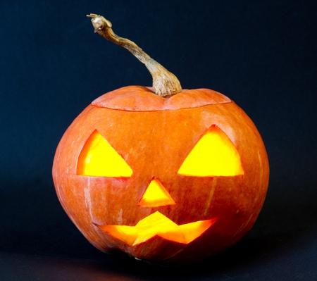 hag: Helloween pumpkin with scary riding hag