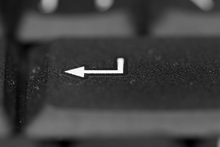 Enter button from keyboard, macro picture Stock Photo - 12423437