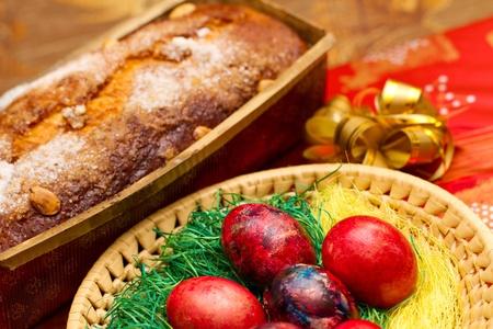 decoracion de pasteles: Red de pascua huevos de pascua con la torta