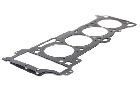 chromium plated: Cylinder head gasket car engine isolated