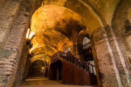 Interior of Saint Irine Istanbul Turkey in Top Kapi Editorial