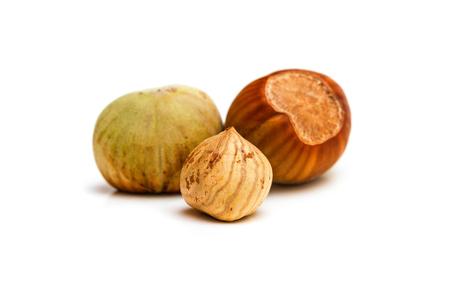 kernel: Hazelnut and kernel isolated on white background