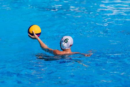 waterpolo: El waterpolo puerta de meta en la piscina