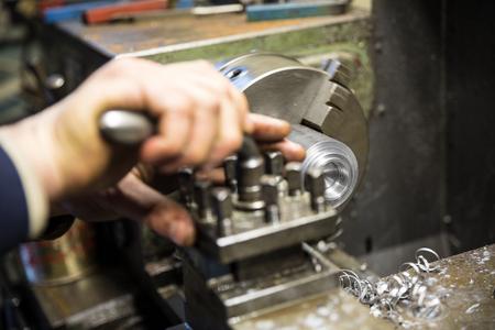 metal working: Metalworking industry, metal working on lathe grinder machine