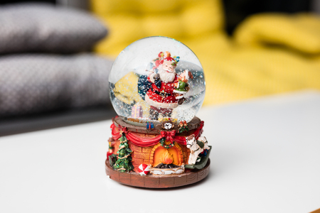 Christmas globe for decorations under christmas tree