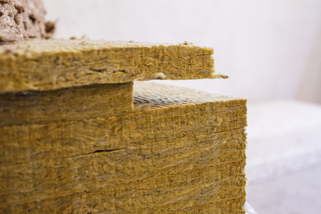 Stone mineral wool insulation for thermal insulation of buildings