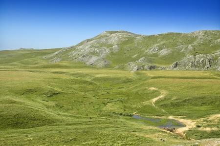 Beautiful pasture and mountains in Macedonia, Europe Stock Photo