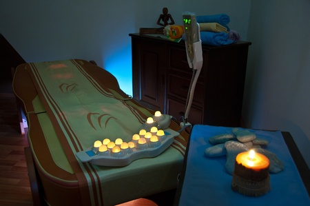 Thermal Massage Bed with candle