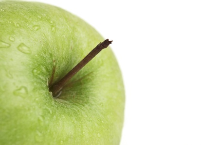 pedicel: A Part of green apple with Pedicel    ( flower stalk and space for your text ( words) ); with cliping path.