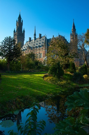 Peace Palace in The Hague, Holland from another view