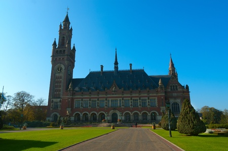 Beautifull morning over the Peace Palace in Den Haag