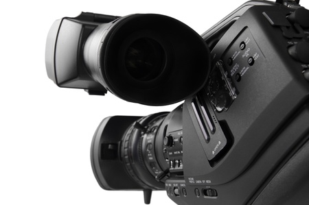 Closer look of tapeless  High definition camcoreder (rear view)