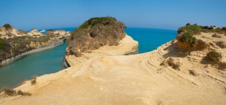 Panoramic view of Canal dAmour Sidari, Corfu, Greece