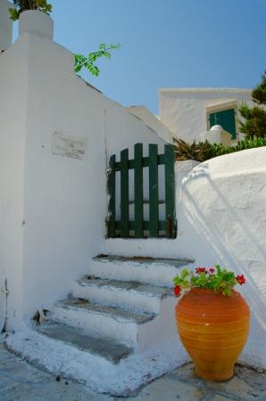 Part of vlacherna Church in Kanoni Greece Standard-Bild